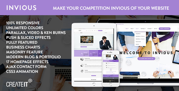 INVIOUS - Clean Responsive Corporate HTML Template - Business Corporate