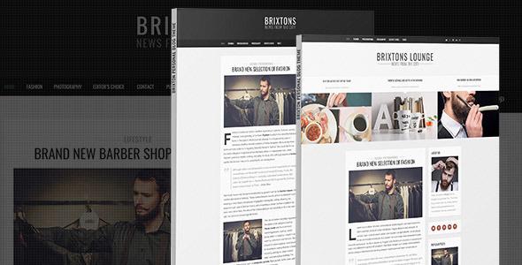 Brixton – Minimal & Personal PSD Blog Template