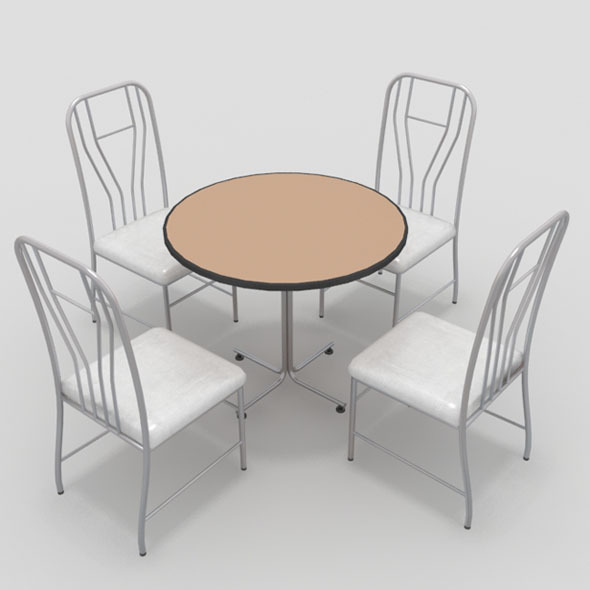 Table with Chairs-10 - 3DOcean Item for Sale