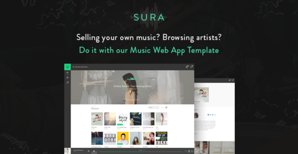 Sura – Music Web App HTML Template