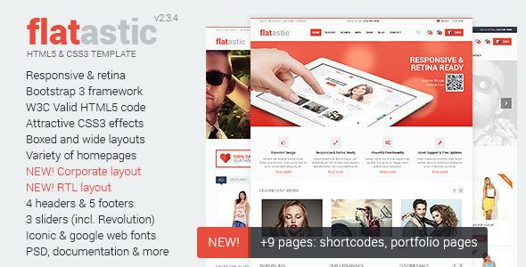 Flatastic – Ecommerce HTML Template