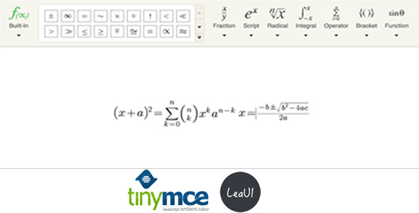 TinyMCE4 Formula Editor - CodeCanyon Item for Sale
