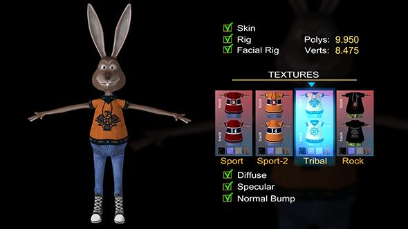 Rabbit Gustaf  - 3DOcean Item for Sale