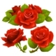 Red roses set - GraphicRiver Item for Sale