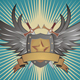 Winged Shield with Swords - GraphicRiver Item for Sale