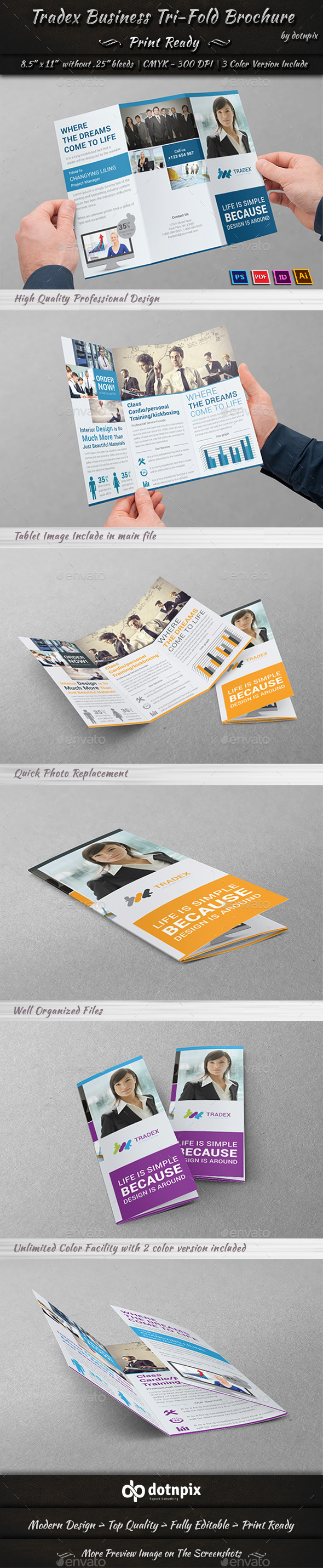 Tradex Business Tri-fold - Corporate Brochures