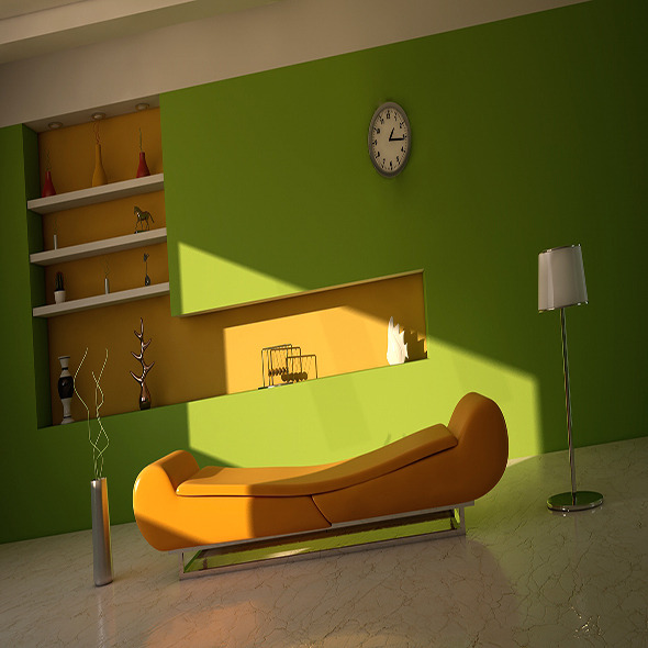 Room interior vray +psd file  - 3DOcean Item for Sale