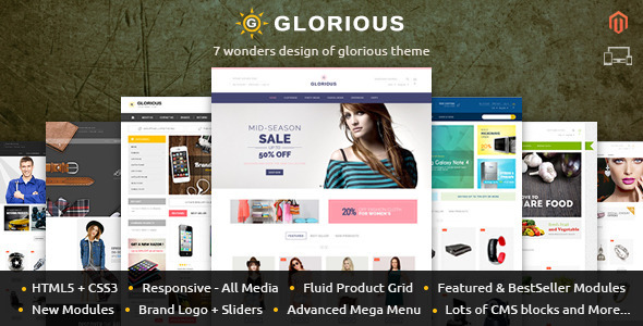 Glorious - Magento Responsive Theme