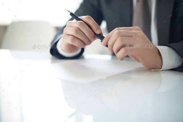 Before writing - Stock Photo - Images