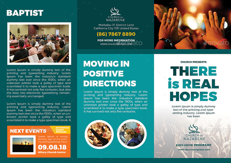 Real hopes church trifold brochures by banyustudio for Church brochure design