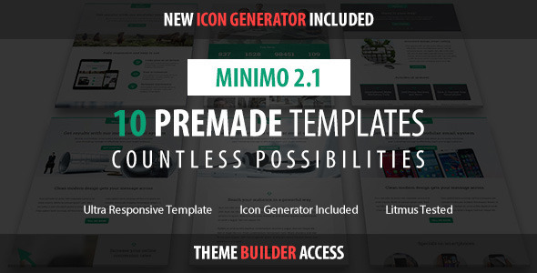 Minimo – Responsive Email + Drag&Drop Builder