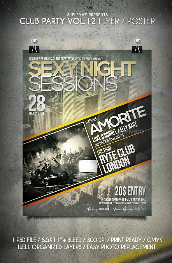 Club Party Flyer / Poster Vol 12 - Clubs & Parties Events