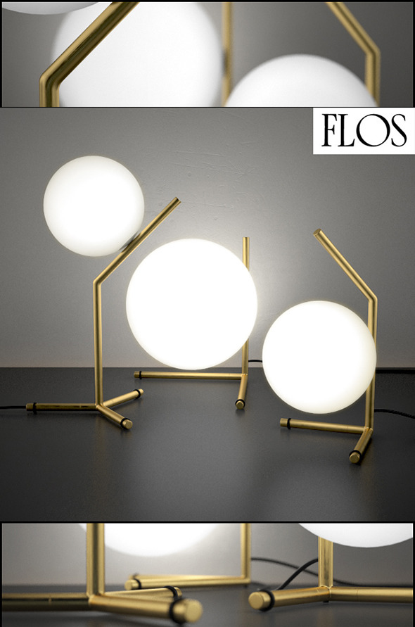 IC Lights table series by Flos by 3dlight | 3DOcean