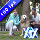 Couple Playing With Dog - VideoHive Item for Sale
