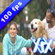Couple With Dog - VideoHive Item for Sale