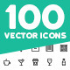 100 Vector Outline Icons Pack - GraphicRiver Item for Sale