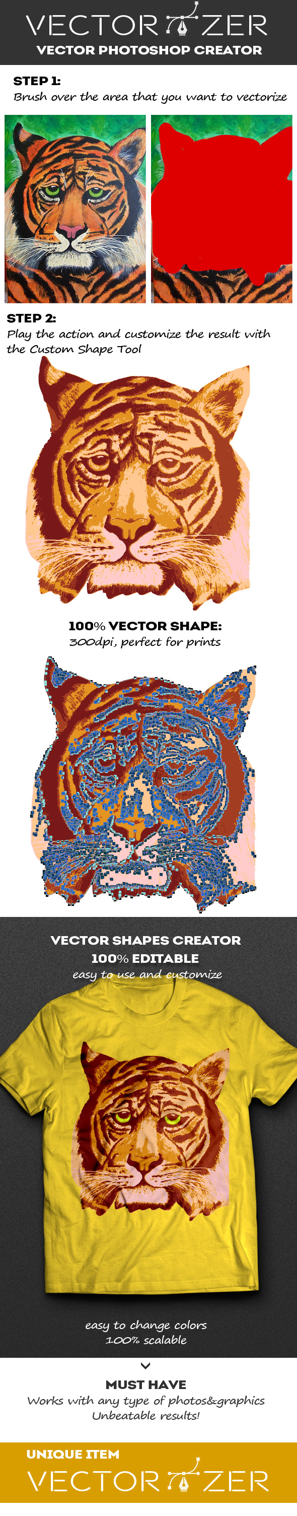 Vectorizer - Vector Photoshop Creator