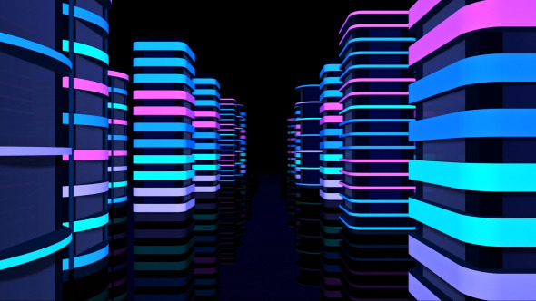 City Neon Tunnel By Minimultik Videohive