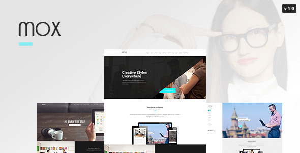 Mox – Single & Mutli Page PSD Template