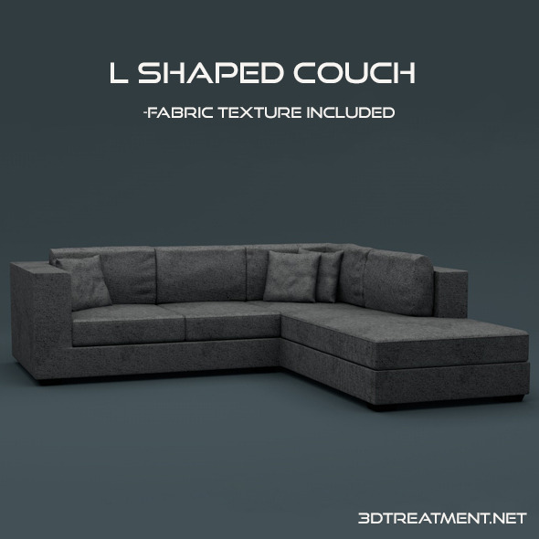 L Shaped Couch - 3DOcean Item for Sale