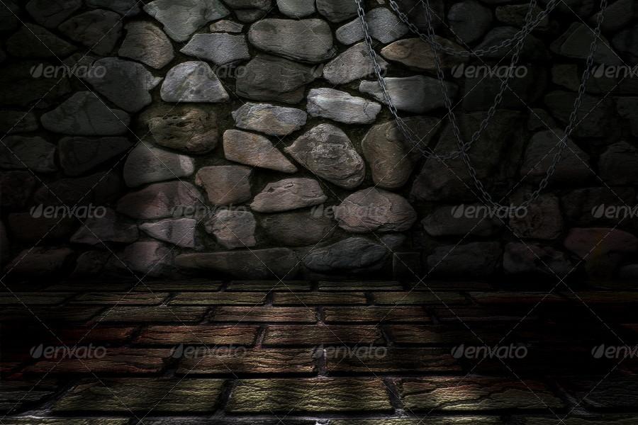 dungeon background by mkrukowski