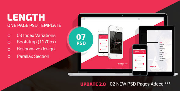 Length | One Page PSD Template - Creative PSD Templates