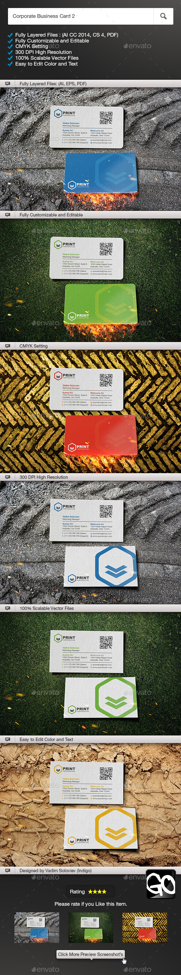 Corporate Business Card 2 - Corporate Business Cards