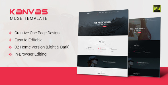 Kanvas - Multipurpose Parallax Muse Template - Creative Muse Templates