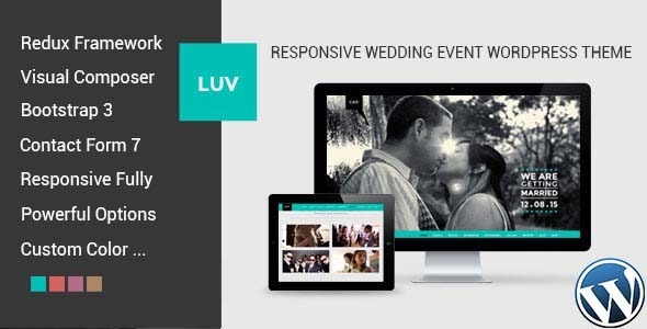 LUV – Responsive Wedding Event WordPress Theme