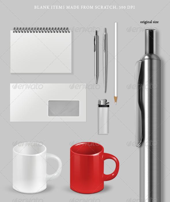 Blank Items - Objects 3D Renders