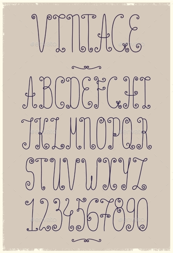 Vintage Handwriting Font By Marylia17