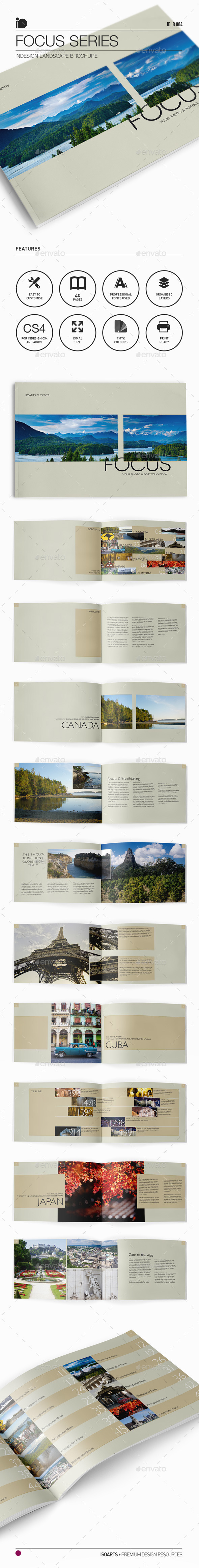 Landscape Brochure • Focus Series - Photo Albums Print Templates