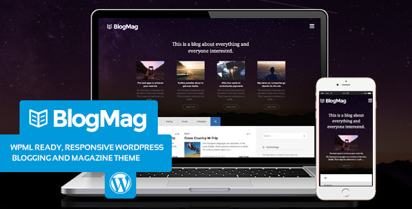 BlogMag – Blogging and Magazine WordPress theme