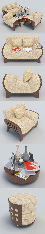 Sofa set-4 - 3DOcean Item for Sale
