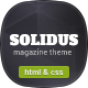 Solidus - Clean Magazine HTML Template Nulled