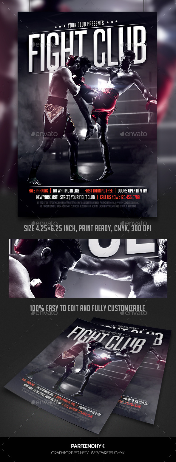 Fight Club Flyer Template - Sports Events