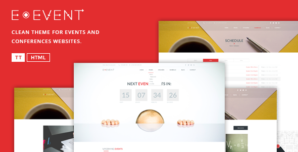 E-Event – Elegant HTML Template For Events