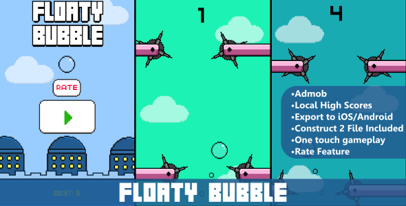 Floaty Bubble - HTML5 Mobile Game - CodeCanyon Item for Sale