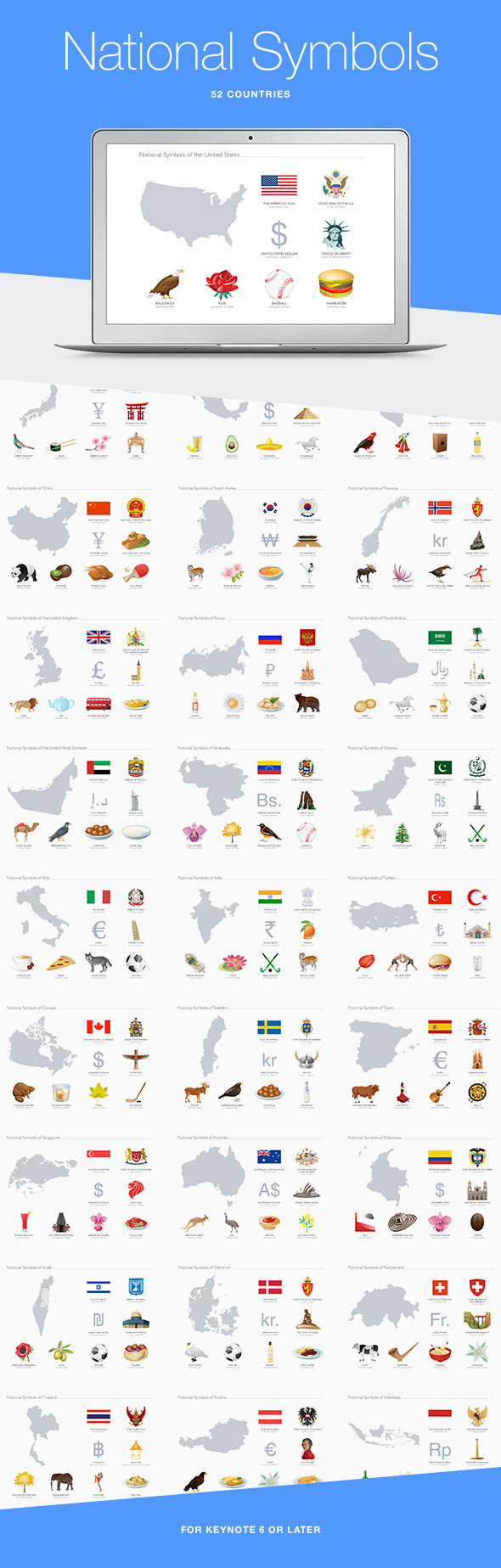 National symbols for keynote by jumsoft graphicriver national symbols for keynote abstract keynote templates biocorpaavc Gallery