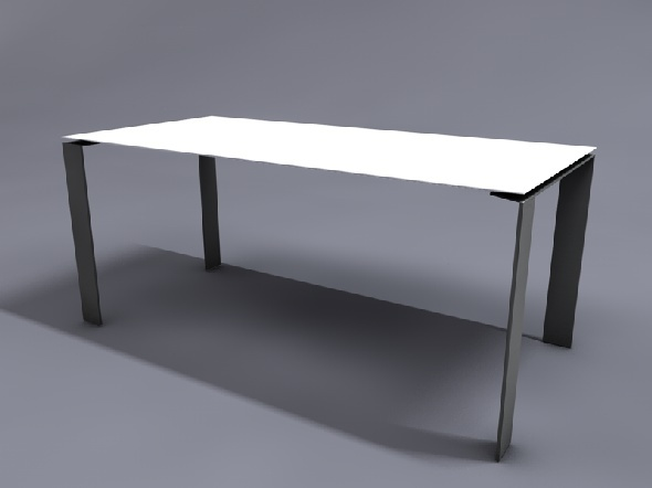 Table four kartell by odussarrat 3docean for Table kartell