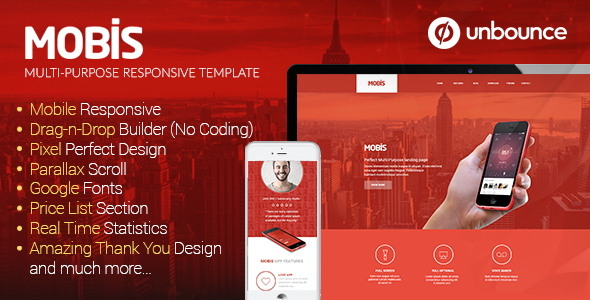 Mobis – Multi-Purpose Responsive Unbounce Template