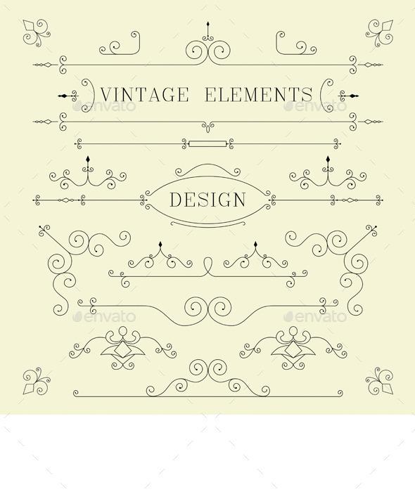Vintage Design Elements - Borders Decorative