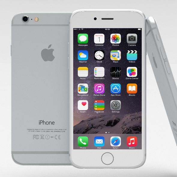 iPhone 6 Silver - 3DOcean Item for Sale