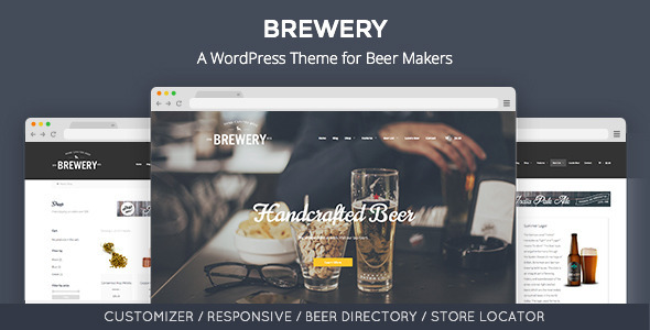 Brewery: A WordPress Theme for Beer Makers - Restaurants & Cafes Entertainment