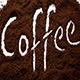 Coffee Text in Coffee Granules 2