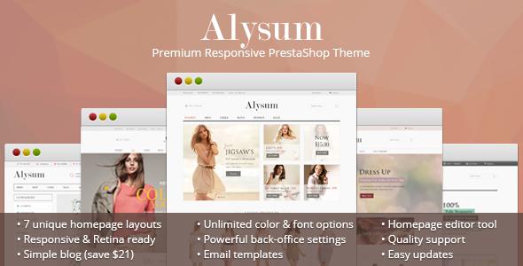 Alysum – Premium Responsive PrestaShop 1.6 Theme