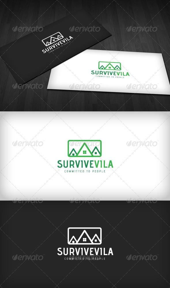 SurviveVilla Logo - Buildings Logo Templates