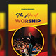 The Art of Worship Trifold Church flyer - GraphicRiver Item for Sale