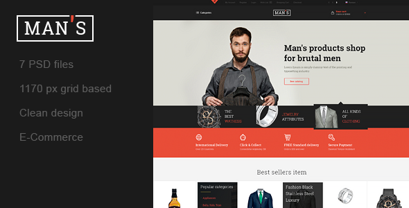 MAN'S – Template Online-Store for Man