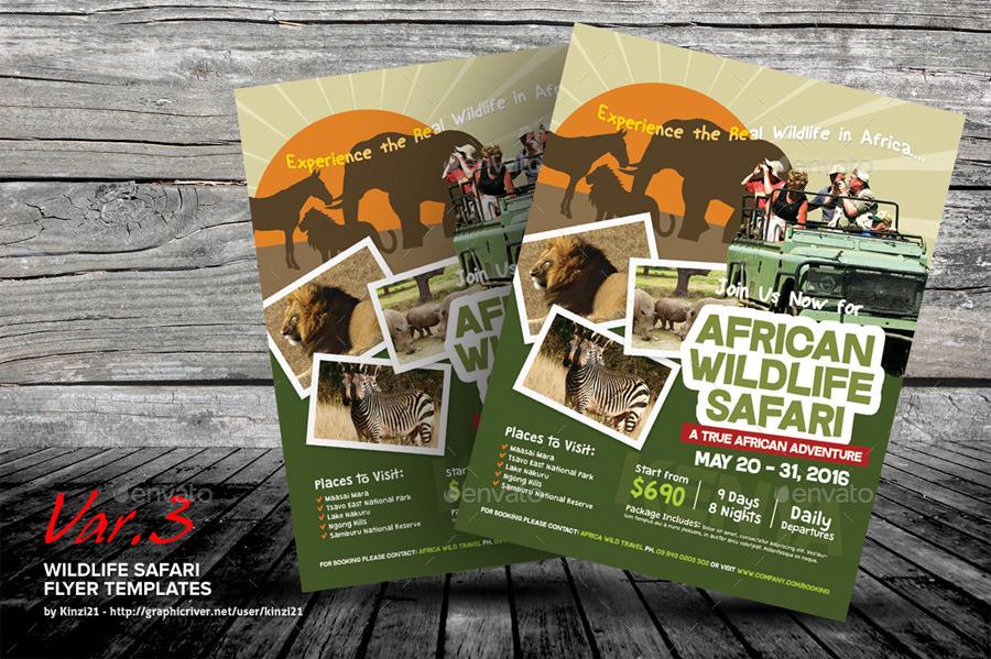 Wildlife Safari Flyer Templates By Kinzi21 Graphicriver